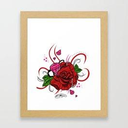 Rose & Diamonds Framed Art Print