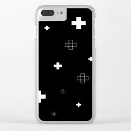 Cross Cross Black Clear iPhone Case