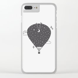 Hot air balloon at night Clear iPhone Case
