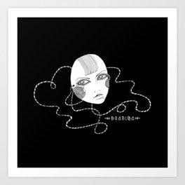 Doll Face Blackie Art Print