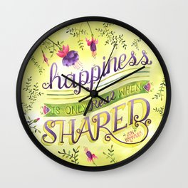 Shared Happiness Wall Clock