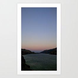 (#99) Dusk on the River Art Print