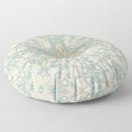 Soft Sage & Cream hand drawn floral pattern Floor Pillow