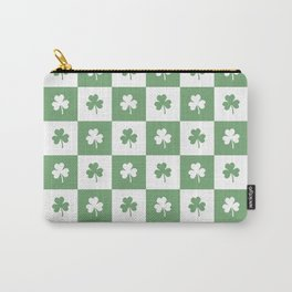 Shamrock Checkered Pattern Carry-All Pouch