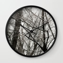 Winter Trees Wall Clock