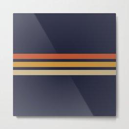 Vintage Retro Stripes Metal Print