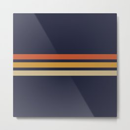 Vintage Retro Stripes Metal Print