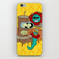 bender iPhone & iPod Skins featuring Wooden Bender by TheArtistKAFA