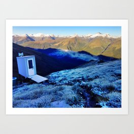 World's Most Scenic Shitter Art Print