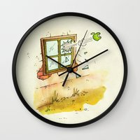 apple Wall Clocks featuring Apple! by Pepan