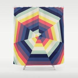 Heptagon Quilt 2 Shower Curtain