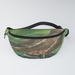 Brown Bird in the Green Grass Fanny Pack