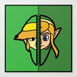 Old & New Link Comparison Canvas Print