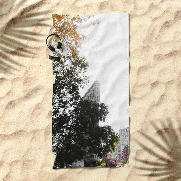 Flatiron Autumn Beach Towel