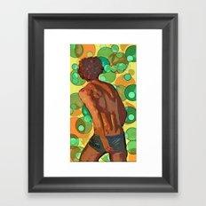 Vollyball player imagined Framed Art Print
