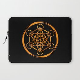 Metatron Cube Gold Laptop Sleeve