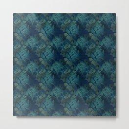 Dark blue , floral Metal Print