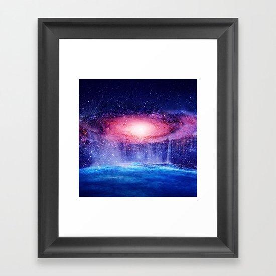 Andromeda Waterfall. Framed Art Print