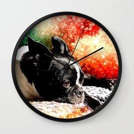 Boston Terrier (Jake) Wall Clock