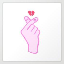FUCK OFF HEART HAND SIGN Art Print