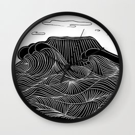 Mountain and Sea Wall Clock