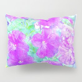 Watercolor Petunias Pillow Sham