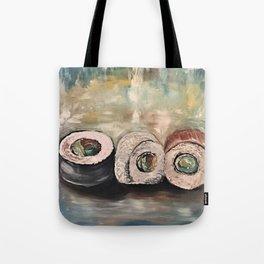 Sushi Art Sushi Painting Sushi Print Japenese Tote Bag