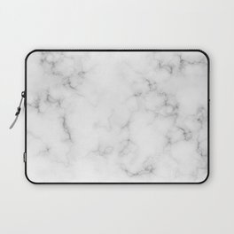 The Perfect Classic White with Grey Veins Marble Laptop Sleeve
