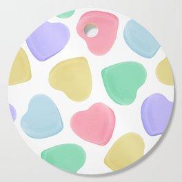 Candy Conversation Hearts Pattern Cutting Board