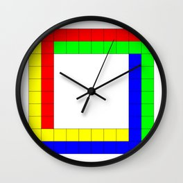 Penrose Square Stroked Wall Clock