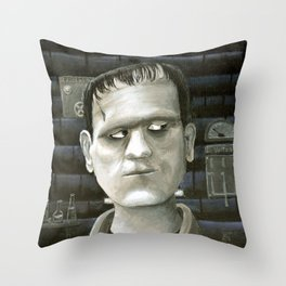 The Monster Throw Pillow