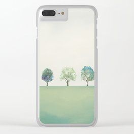 Green Sunny Field II Clear iPhone Case