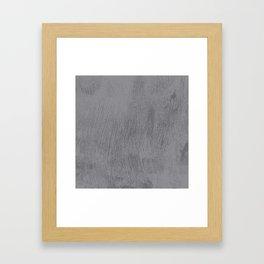 Textured Gray Framed Art Print
