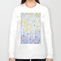 birch Long Sleeve T-shirts featuring October Birch by Ann Marie Coolick