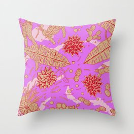 Warm Flower Throw Pillow
