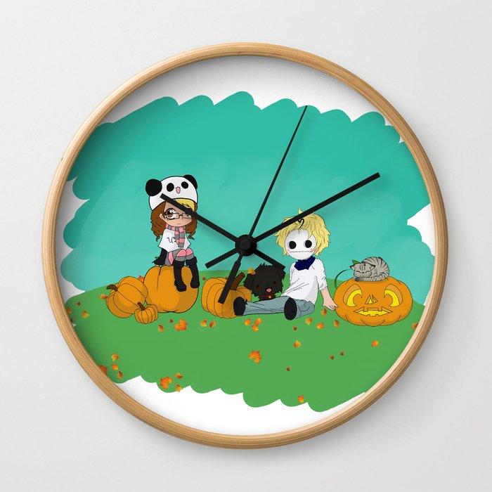 Chey & Cry Pumpkin Fest Wall Clock