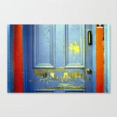 Primary Colors Door Canvas Print