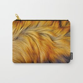 Cool brown textured animal horse tail fur design Carry-All Pouch