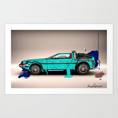 Back to the Future - Zombie edition Art Print
