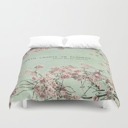 The Earth Laughs in Flowers Duvet Cover