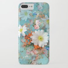 romantic flowers and butterflies iPhone 7 Plus Slim Case