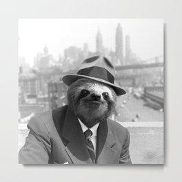 Sloth in New York Metal Print