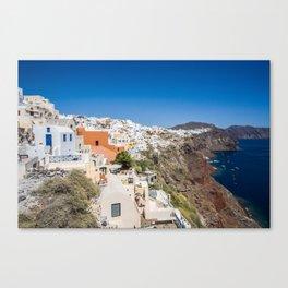 Santorini Caldera Vista From Oia Canvas Print