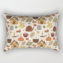 Autumn Cottage Days Rectangular Pillow