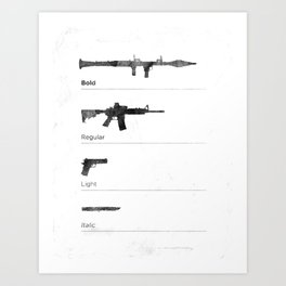 Typographer's Arsenal Art Print