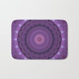 Mandala purple heart Bath Mat