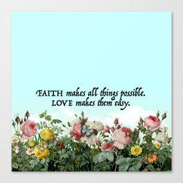 Faith & Love Canvas Print