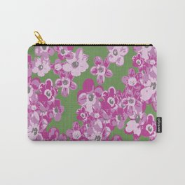 Pink Saxifraga floral Carry-All Pouch
