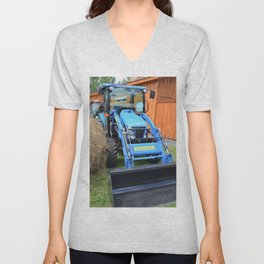 New Holland Workmaster 75 Tractor  2 Unisex V-Neck