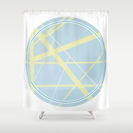 Crossroads ll - circle graphic Shower Curtain